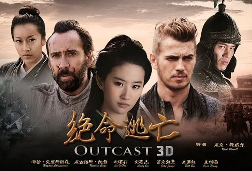 """Nicolas Cage and Hayden Christensen star in """"Outcast,"""" a China co-production that was pulled from theaters."""