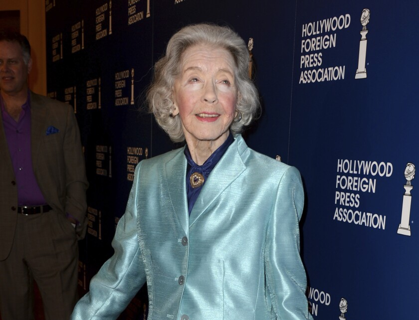 FILE - Marsha Hunt, one of the last living stars of Hollywood's Golden Age, arrives at the Hollywood Foreign Press Association Luncheon in Beverly Hills, Calif., on Aug. 13, 2013. A documentary of her life is airing on TCM on Dec. 11 along with seven of her films. (Photo by Jordan Strauss/Invision/AP, File)