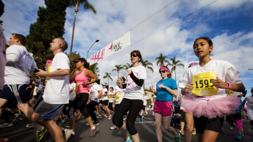 The annual Susan G. Komen 5K run and walk will return to Balboa Park on Nov. 6. The event helps to raise money for breast-cancer research, awareness of the disease and to celebrate survivors. (Christian Rodas)
