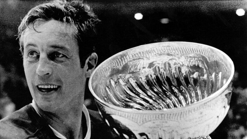 Jean Beliveau of the Montreal Canadiens with the Stanley Cup in 1971. Beliveau was known for his charitable work after he retired.