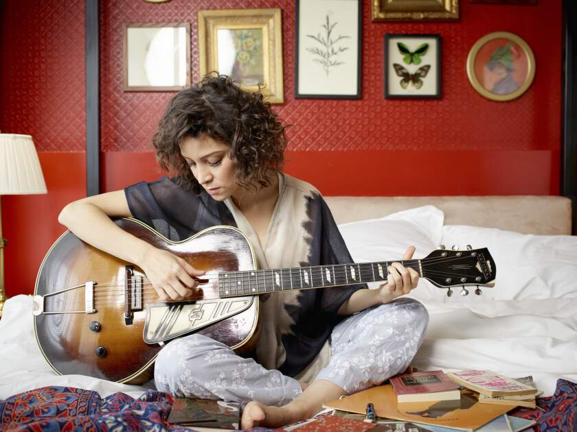 Singing in both English and Spanish, Gaby Moreno charmed and enthralled a capacity audience at her Adams Avenue Unplugged solo performance.