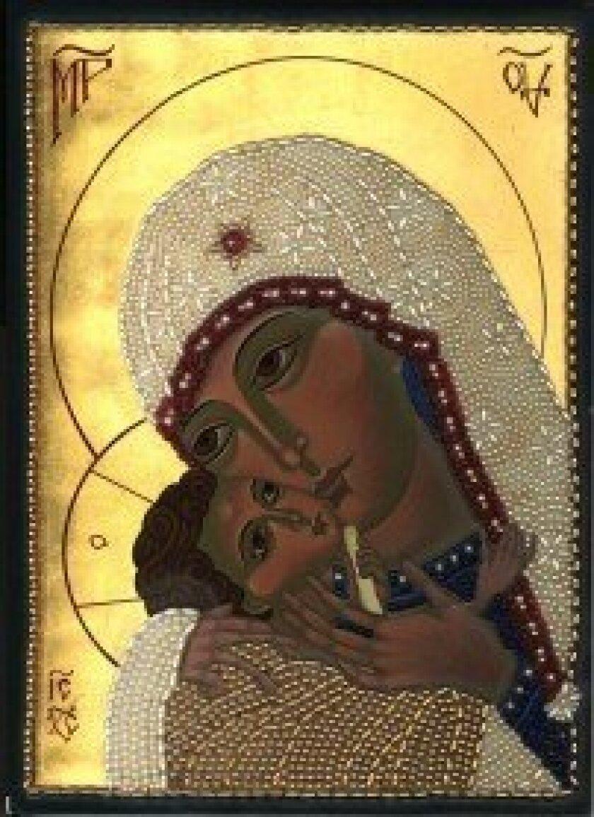 'Korsun Mother of God,' based on a 17th-century image from Korsun (Ukraine), includes decorative beadwork. Courtesy photo