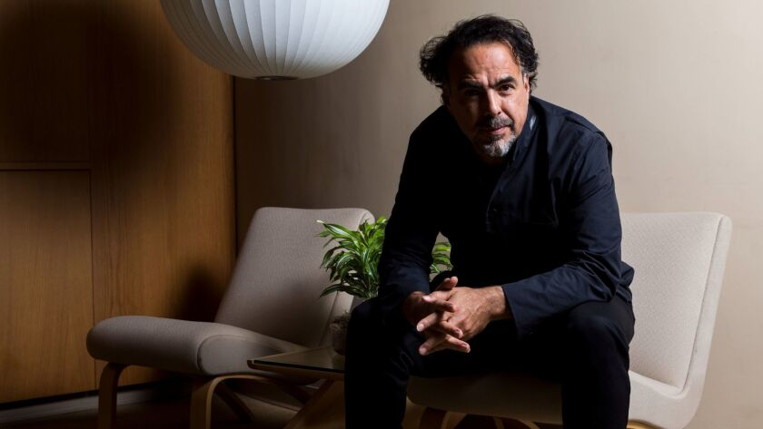 Academy Award-winning director Alejandro Iñárritu at the Los Angeles County Museum of Art.