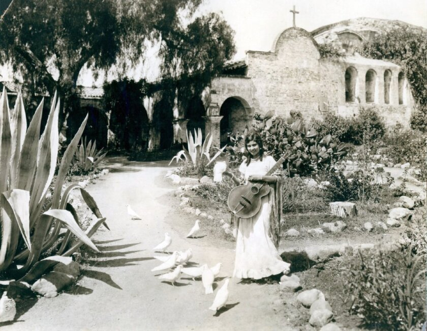 An early photo of Mission San Juan Capistrano, one of the missions overseen by Father Junipero Serra