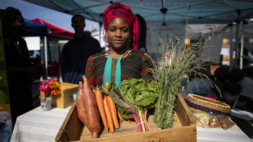 Olympia Auset's grocery pop-up Süprmarkt has provided affordable organic produce to communities in South L.A. since 2016.
