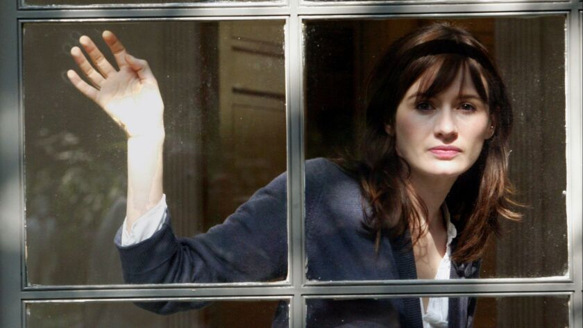 Actress Emily Mortimer at her home in 2005.