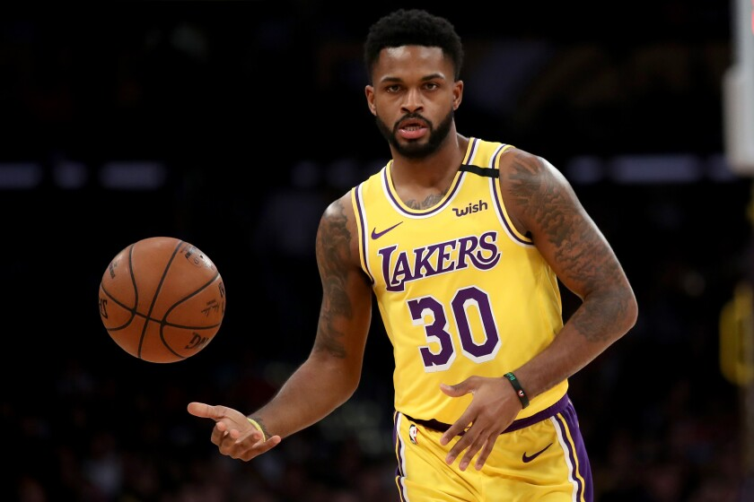 The Lakers parted ways with Troy Daniels on Sunday, allowing the guard to retain his eligibility for another team's playoff roster.