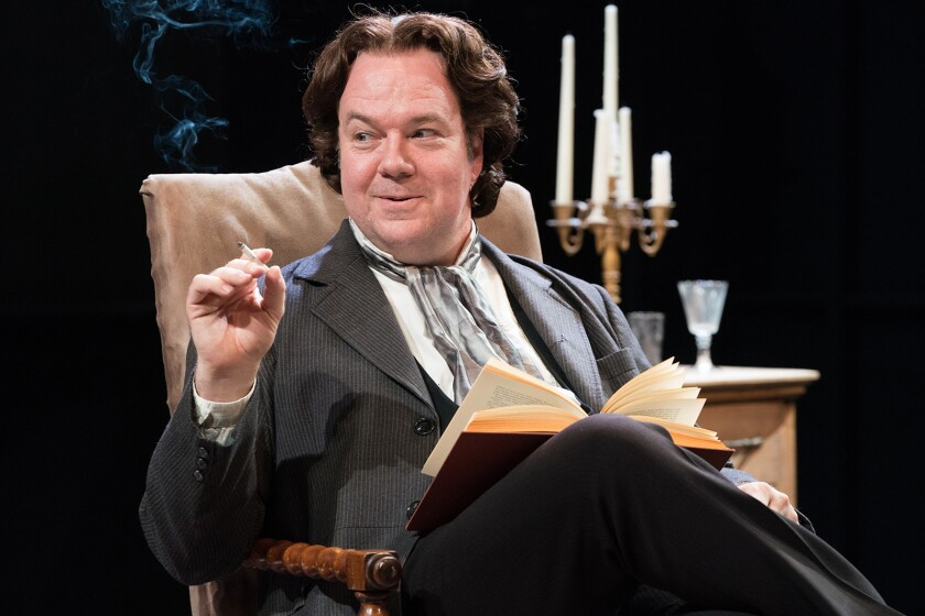 """Rob Nagle portrays Irish poet and playwright Oscar Wilde in """"The Judas Kiss,"""" which closes this weekend at Boston Court Pasadena."""