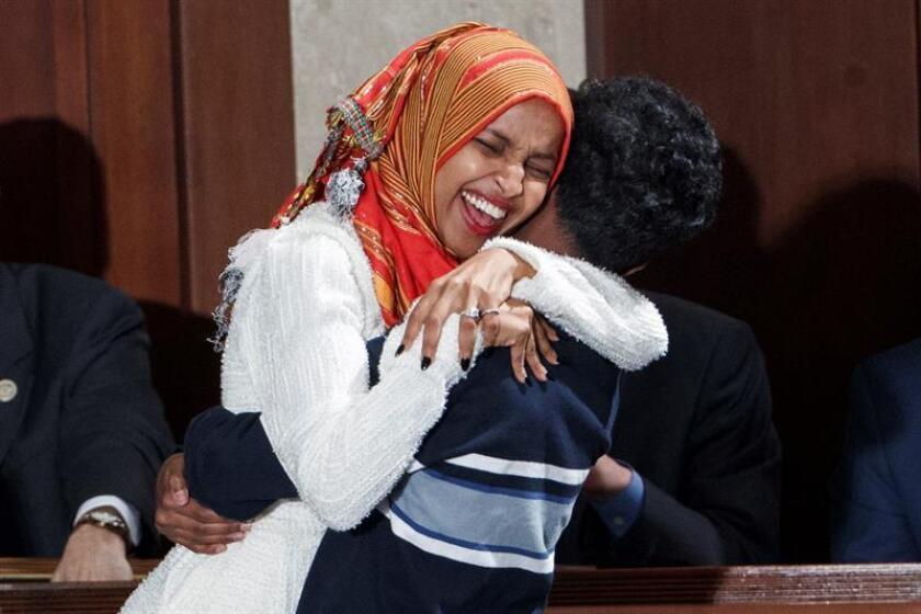 La congresista Ilhan Omar anunció hoy que la liberiana Linda Clark, de 48 años y que vive en el estado de Minesota desde el 2000, será su invitada a la alocución anual de Trump ante el Congreso. EFE/Archivo