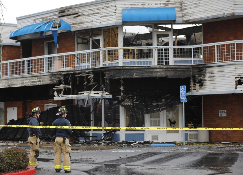 A three-alarm blaze ripped destroyed the China Max Seafood Restaurant off Convoy Street in Kearney Mesa Monday night. The fire caused an estimated $4.5 million in damage to the business.