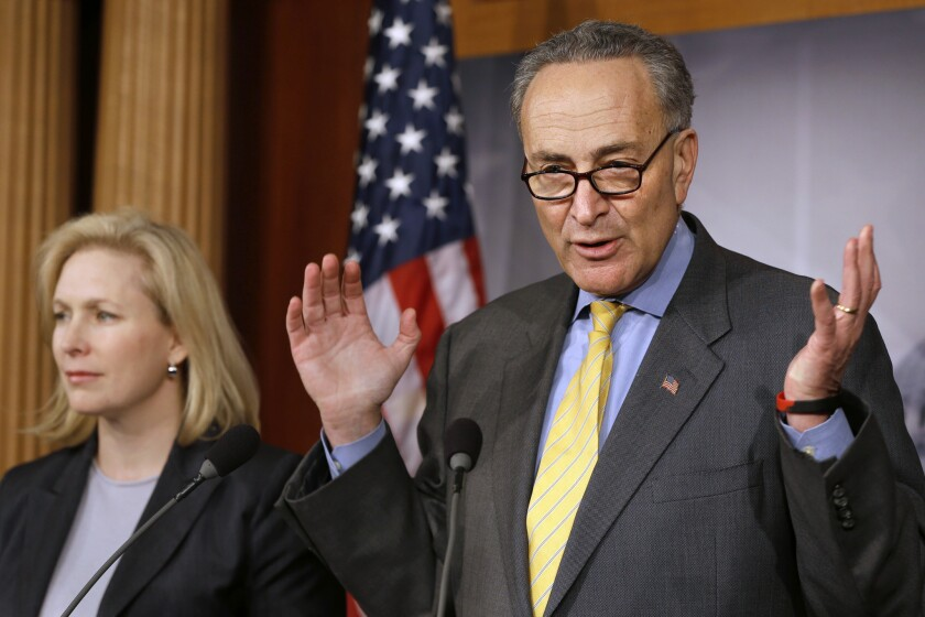 New York Sens. Chuck Schumer and Kirsten Gillibrand were frequent targets of Cesar Sayoc's Twitter threats.
