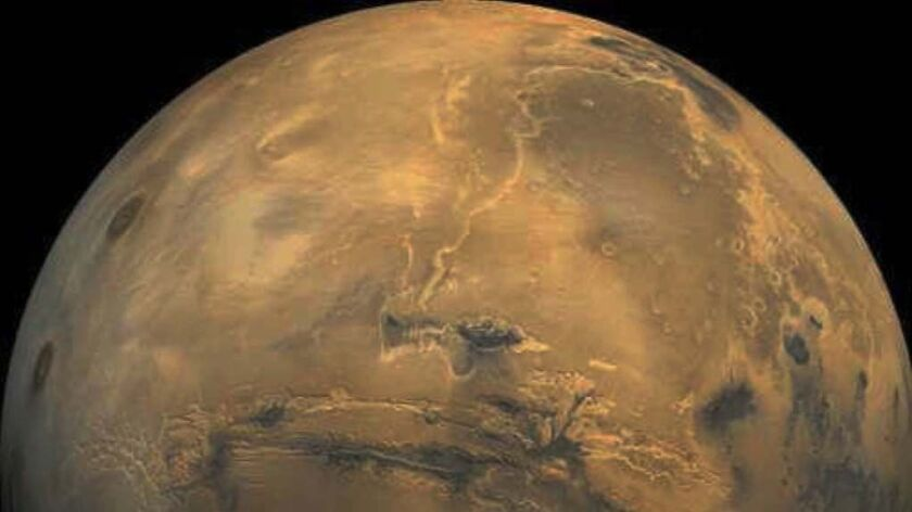 This undated NASA image shows the planet Mars taken by the Hubble Space Telescope. The Mars Pathfind