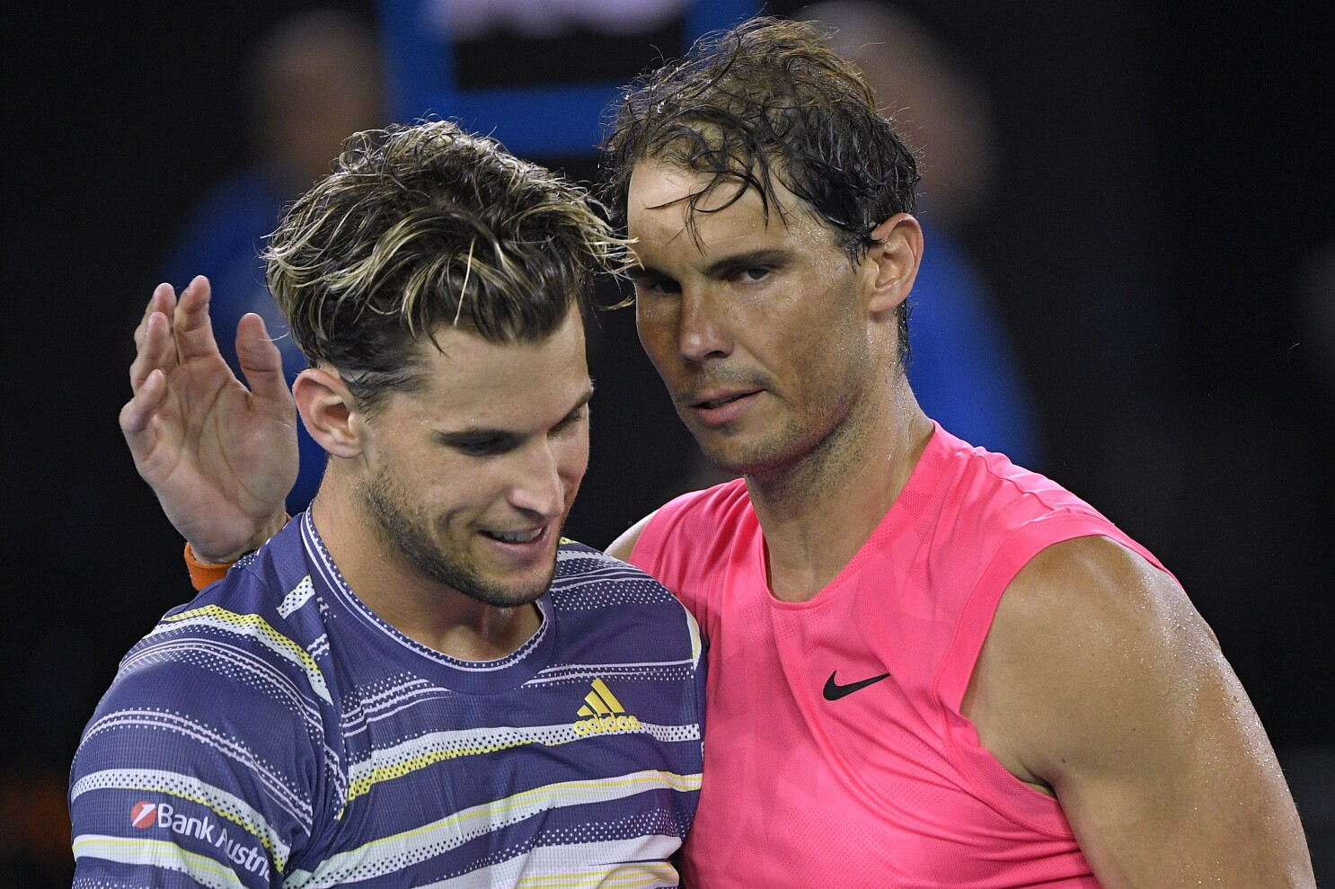 Rafael Nadal Upset By Dominic Thiem In Australian Open Quarterfinals Los Angeles Times