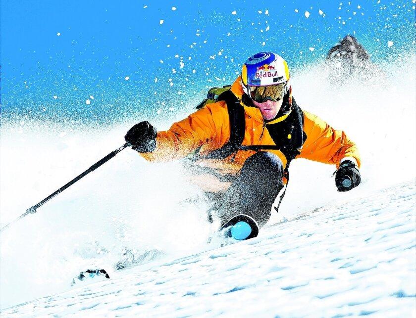 Chris Davenport skis in Portillo, Chile.