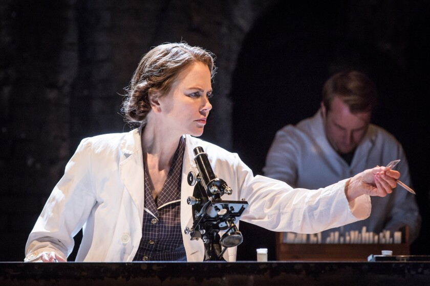 """Nicole Kidman rehearses Sept. 3 for her role as Rosalind Franklin in Anna Ziegler's new play """"Photograph 51"""" in London."""