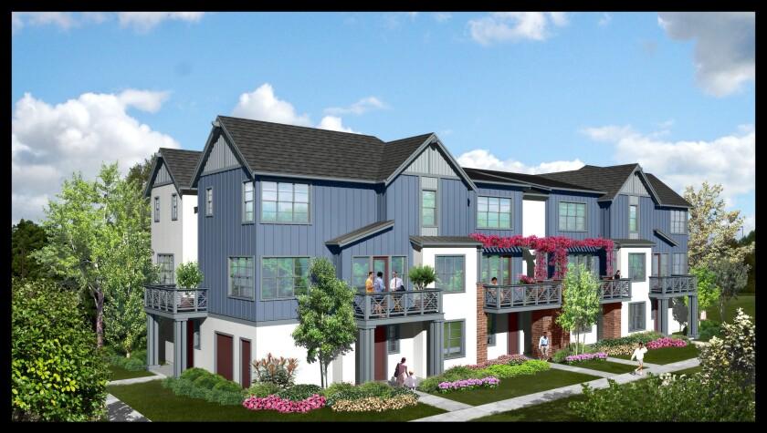 A rendering of Landsea Group's development in Dublin, Calif.