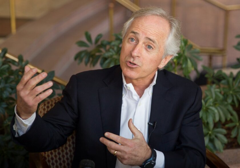 Gloating at a union defeat: Rep. Bob Corker, R-Tenn., after the Volkswagen vote.