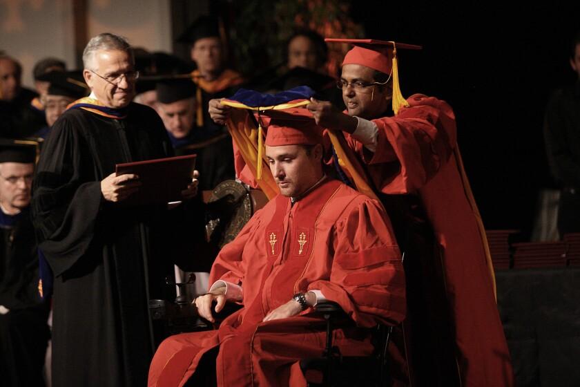 Ryan Williams at his PhD hooding ceremony