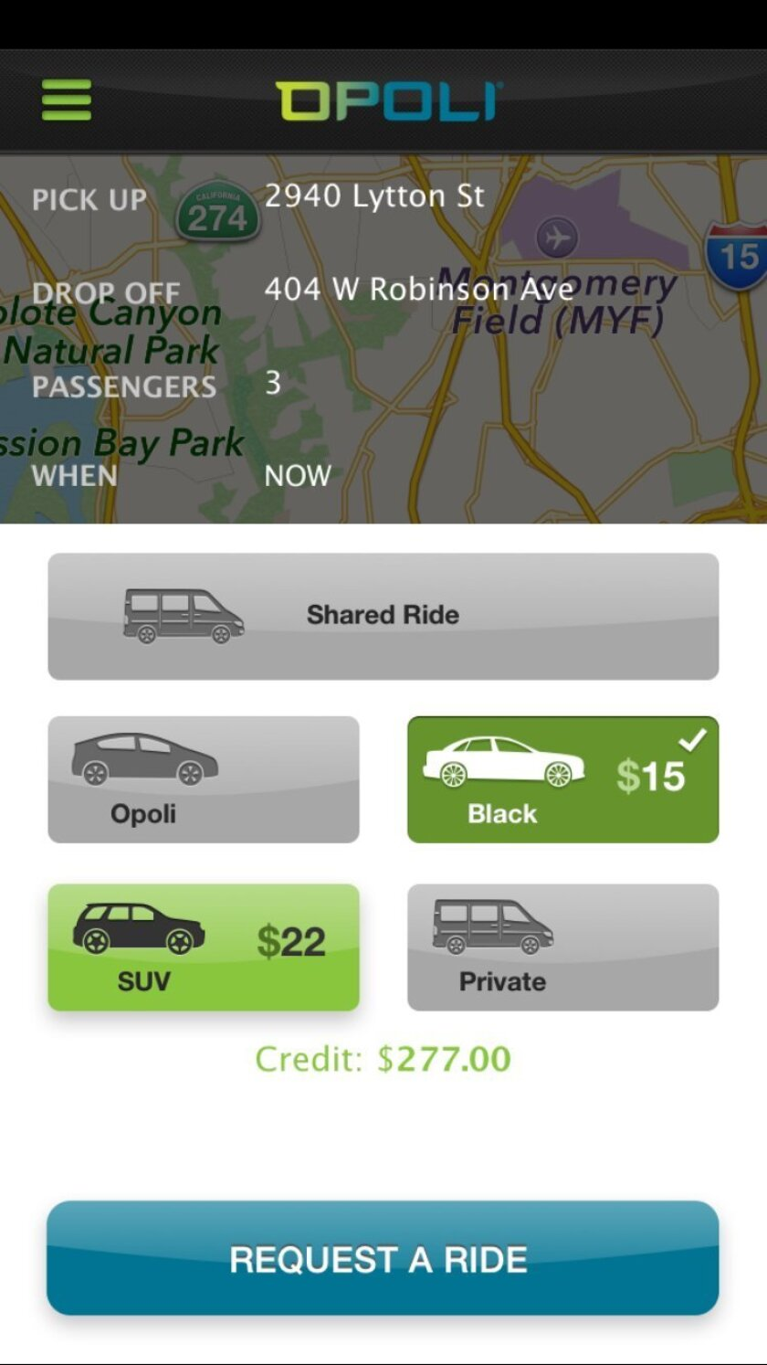 Opoli recommends a price for rides, but you can suggest your own.