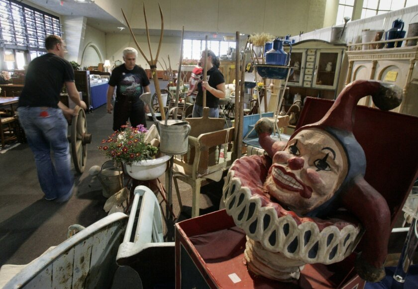 A jack in the box was among the treasures to be discovered at a past Antique Show and Sale.
