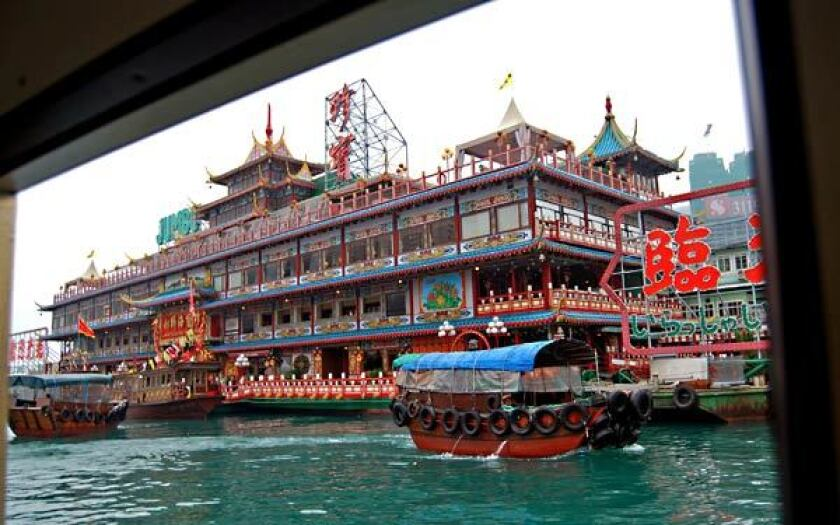 Hong Kong's Jumbo floating restaurant is a stop on the Asian itinerary of the Ocean Princess.