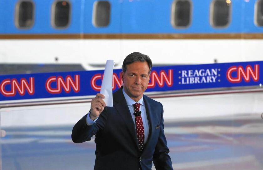 CNN's Jake Tapper moderated the debate between 11 GOP presidential hopefuls.