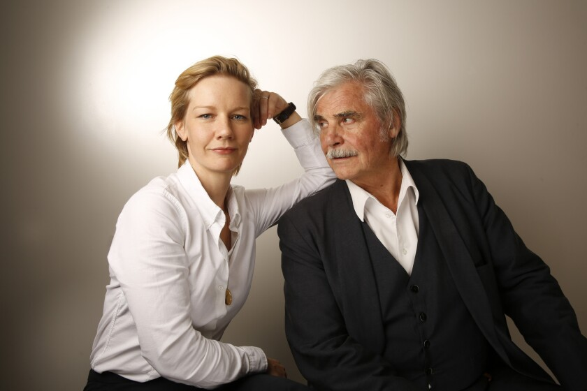 """Toni Erdmann"" actors Sandra Huller and Peter Simonischek."