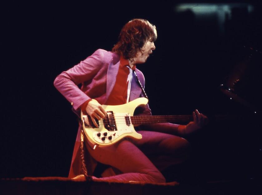 Chris Squire in concert circa 1979.