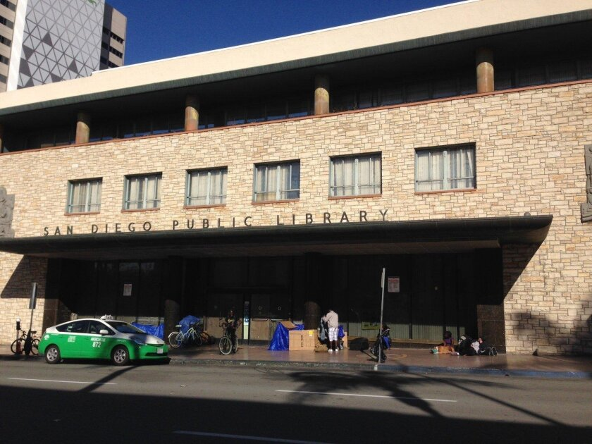 The former Central Library on E Street has been closed since 2013's opening of the new library next to Petco Park. Civic San Diego is working on plans to rehab it as a startup incubator center.