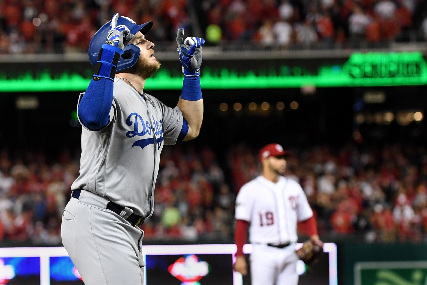 Column: Russell Martin the unlikely hero as he saves Dodgers from the brink of disaster