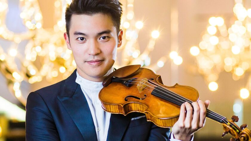 Violinist Ray Chen will perform Friday at Musco Center for the Arts in Orange.