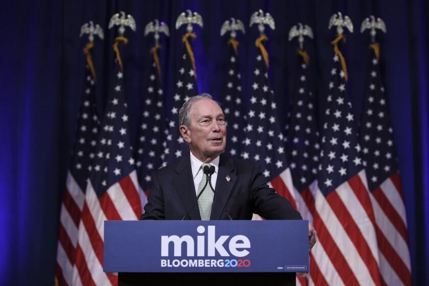 Democratic candidate Michael Bloomberg
