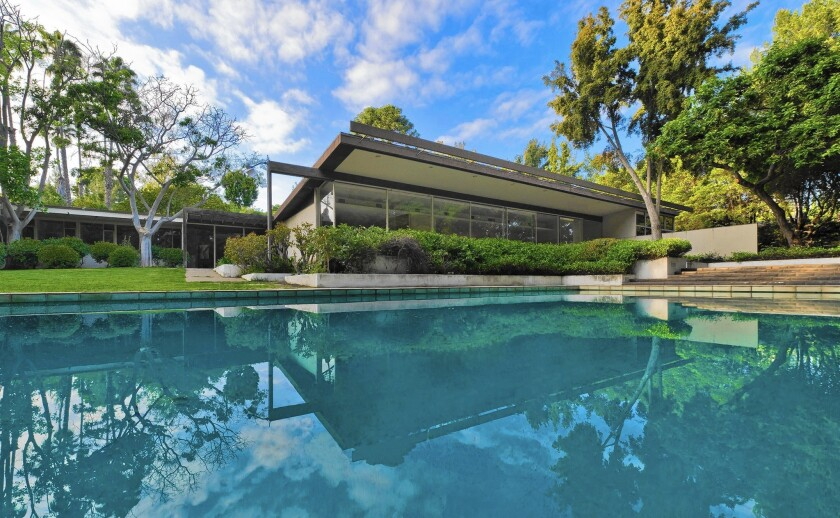 The Beverly Hills Cultural Heritage Commission has recommended giving landmark status to the Richard Neutra-designed Kronish Residence, shown in 2011.