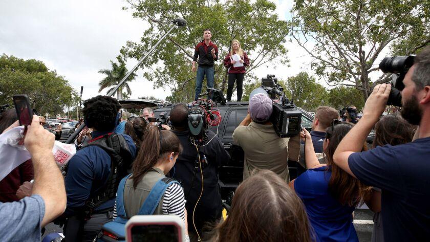 School shooting survivors make gun control push at Florida Capitol