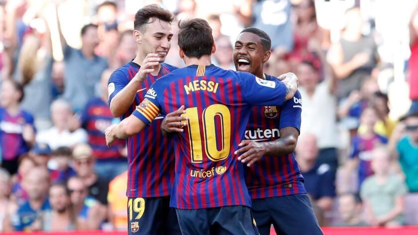 Messi y más estrellas del Barcelona, próximamente en canchas de Estados Unidos.estadounidense.