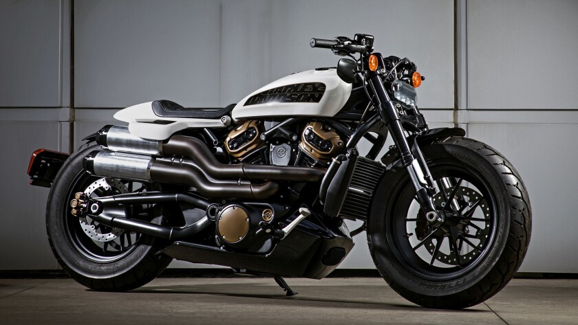 "Harley-Davidson says its future custom motorcycles are intended to underline the company's commitment to ""power, masculinity and comfort."""