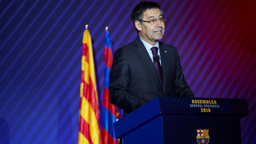 FC Barcelona's Commitment Assembly, Spain - 20 Oct 2018