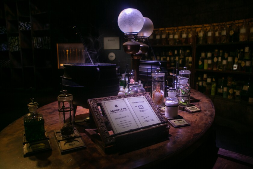 """Warner Bros. Studio Tour guests can try their hand at mixing potions from the """"Harry Potter"""" franchise."""