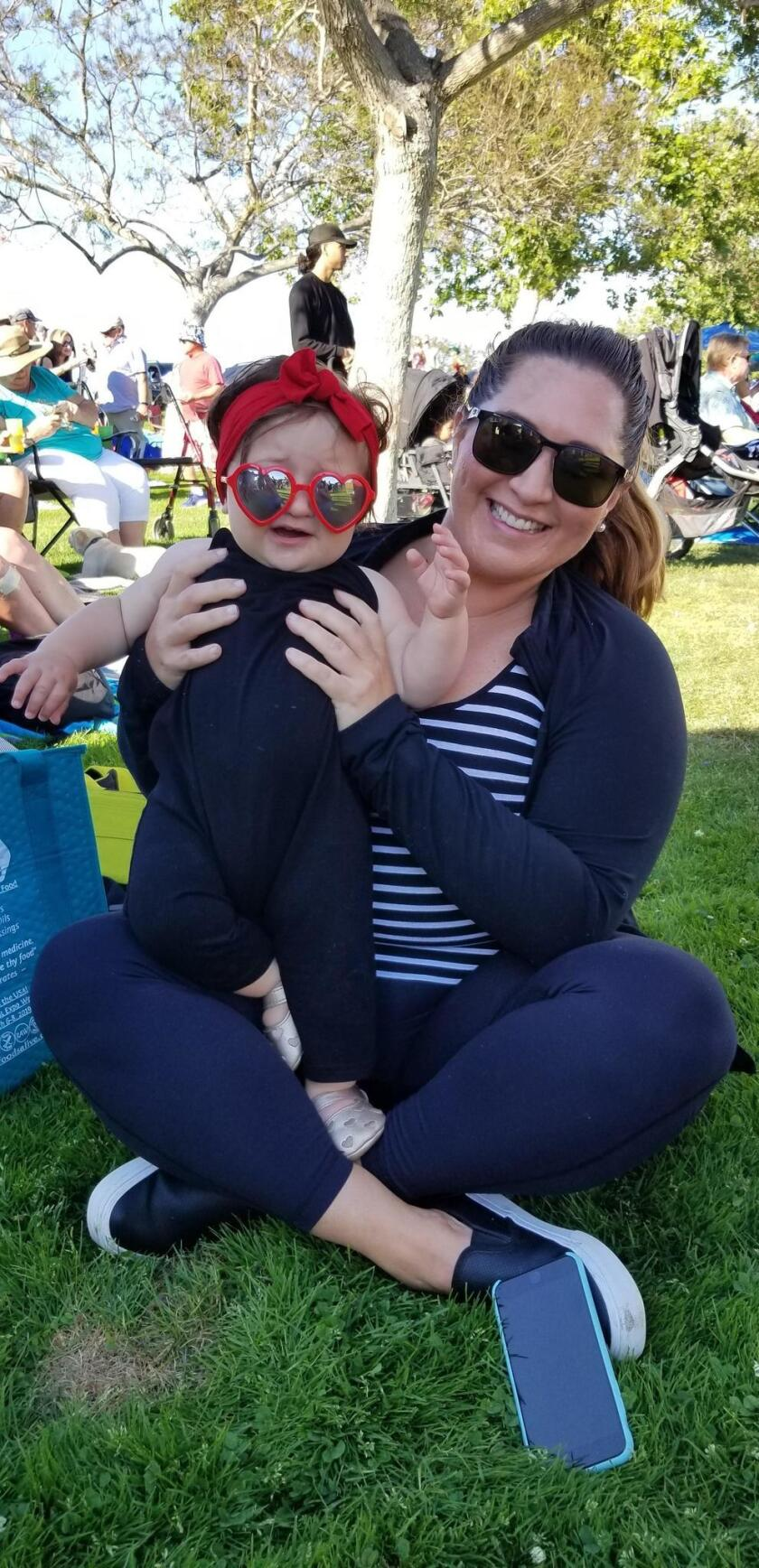 Darci Miller and her daughter Aria look fabulous together in their sunglasses.