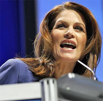 """Rep. Michele Bachmann, a """"tea party"""" favorite, used the first major presidential debate of the 2012 campaign to announce that she is formally running for president."""