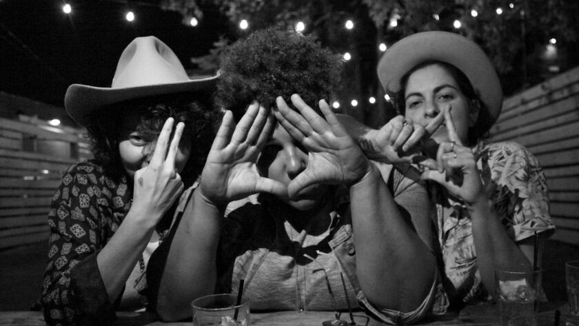 Bermuda Triangle, which features Brittany Howard of Alabama Shakes (center), performs Monday at the Casbah.