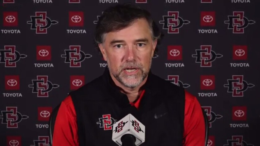 John David Wicker, San Diego State's director of athletics, is hopeful SDSU's fall sports can be played in the spring.