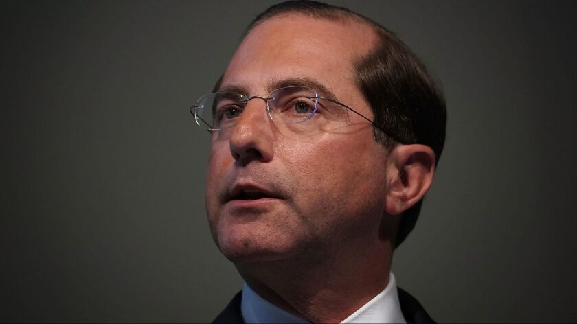 Health and Human Services Secretary Alex Azar, who has strived to dispel any perception of alignment with his former drugmaker colleagues, explained the proposal to require drug price disclosures in commercials.