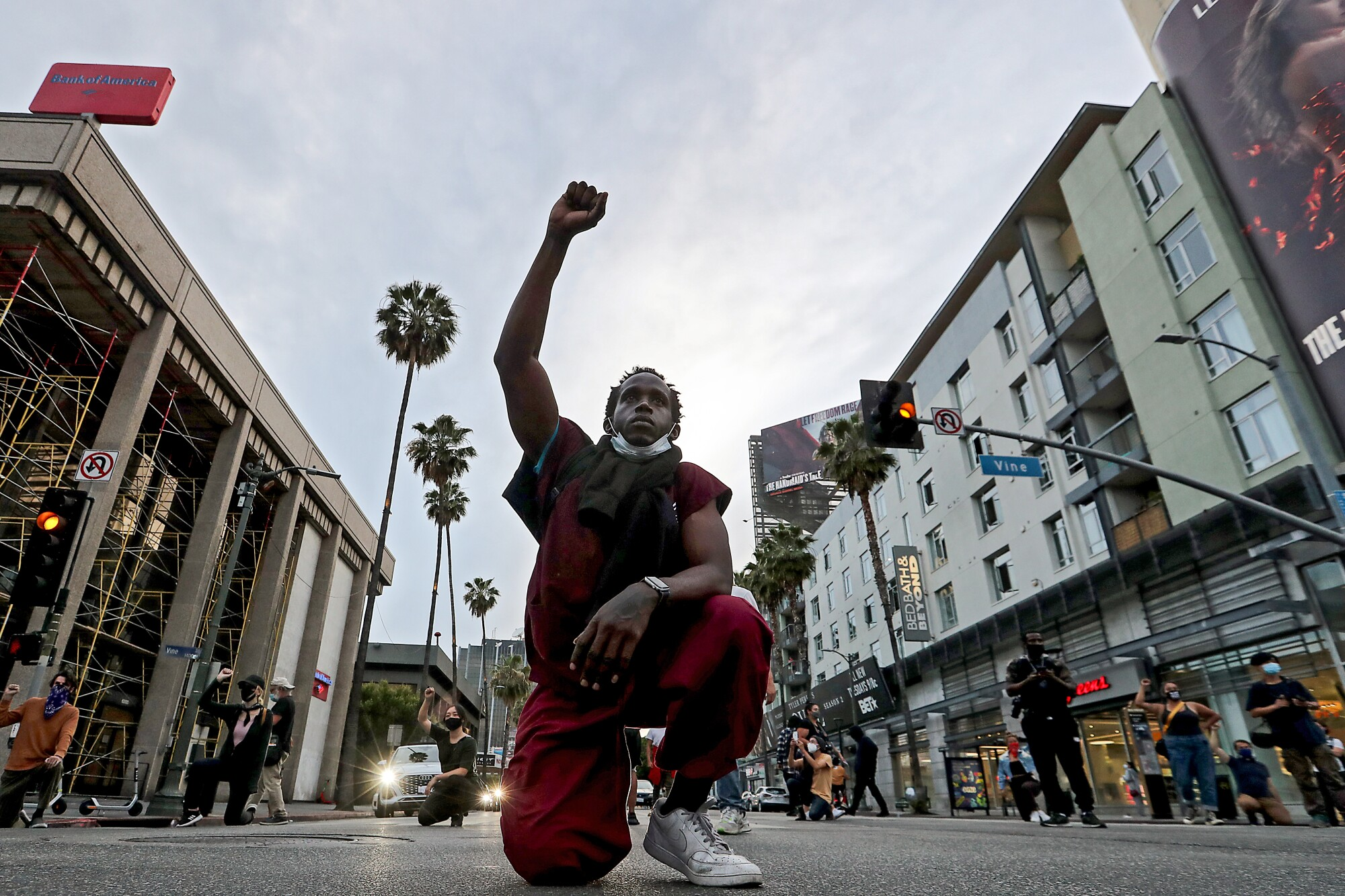 A Black Lives Matter rally Tuesday in Los Angeles