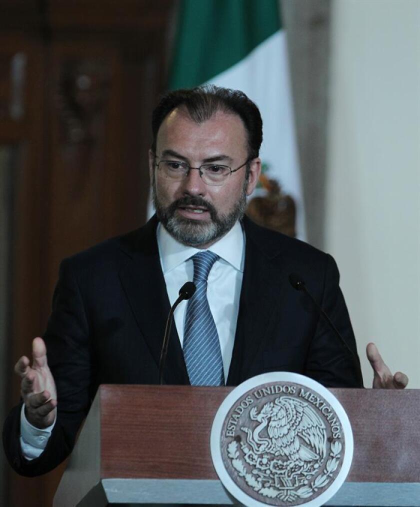 El secretario de Relaciones Exteriores de México, Luis Videgaray, durante una conferencia de prensa. EFE/Archivo