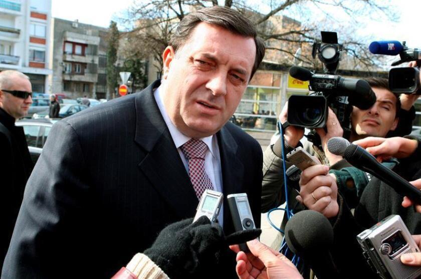 En opinión de Dodik, ese trabajo fue llevado a cabo bajo presiones de la comunidad internacional, lo que dio lugar a una manipulación de los hechos en detrimento del ente serbobosnio. EFE/Archivo