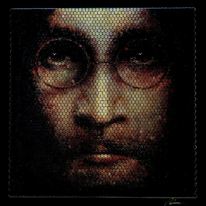 Art on display at La Jolla Gallery includes 'John Lennon' (bullet casings) by David Palmer