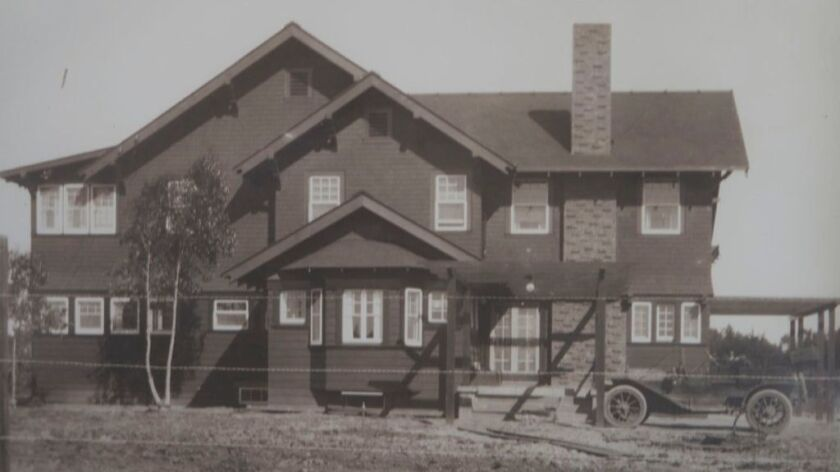 The Greg Rogers house before it was moved at 699 E Street.