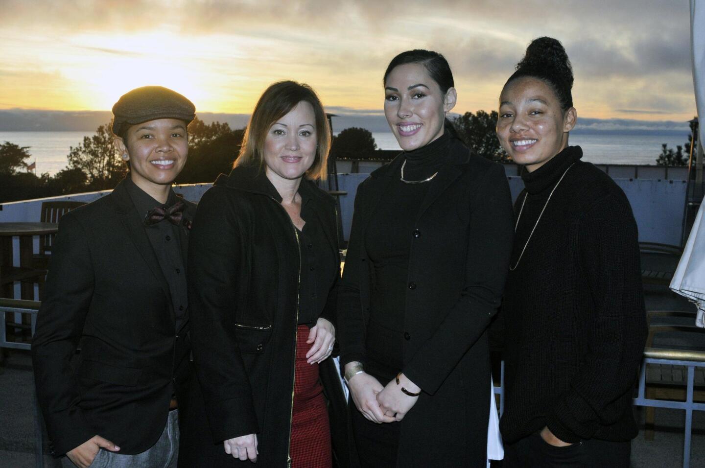 Jam Pickens, Julia Martinez, Jackie Faasamala, San Diego Center for Children wrap around skills trainer Courtney Craig