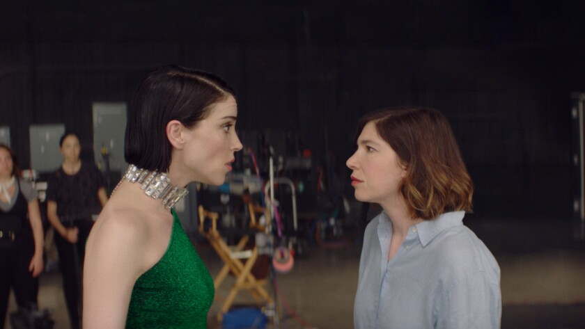 """St. Vincent, left, as herself and Carrie Brownstein as herself in Bill Benz's """"The Nowhere Inn."""""""